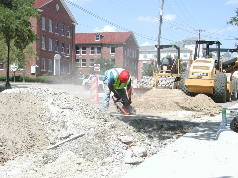 Road construction hits pothole
