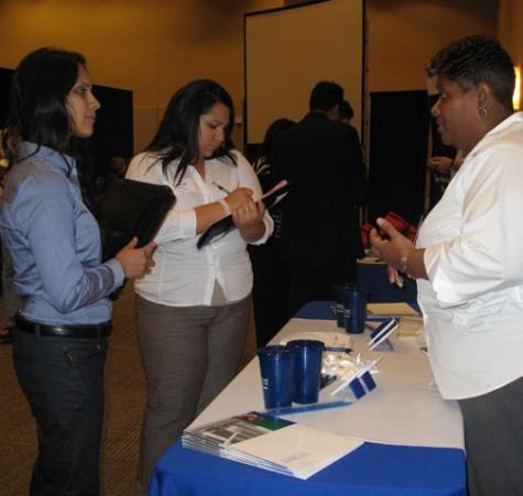 Career fair on campus