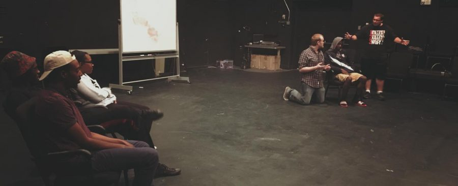Members+of+the+Cricket+City+improv+troupe+at+their+first+rehearsal+of+the+year.