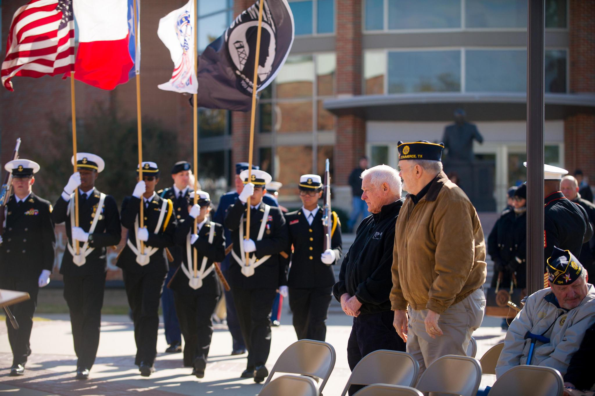 Closing Ceremony for 2014's Veterans Vigil at A&M-Commerce