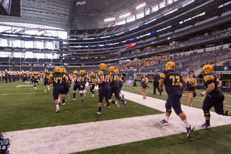Lions enter the AT&T Stadium to compete for the Chennault Cup