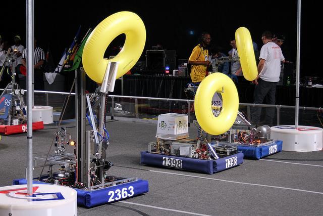 A robotics competition in North Charleston, S.C.