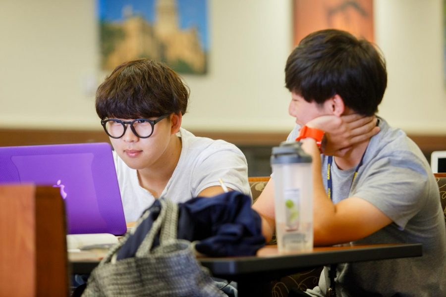 Students work together in Gee Library. Photo Courtesy | TAMUC