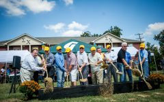 Members of Sigma Chi Fraternity had a ground breaking ceremony for a proposed educational center Oct. 14, 2017. Photo Courtesy | TAMUC smugmug