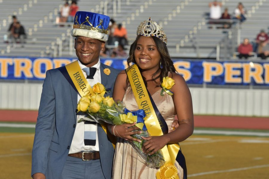 DeVaunghta Johnson (left) was crowned 2018 Homecoming King, and Camille Rivera (right) was crowned 2018 Homecoming Queen.