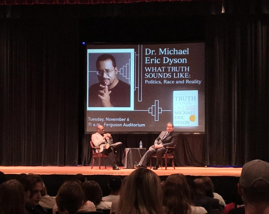 Vice President of Media Relations and Community Noah Nelson (left) sat down with Dr. Michael Eric Dyson (right).