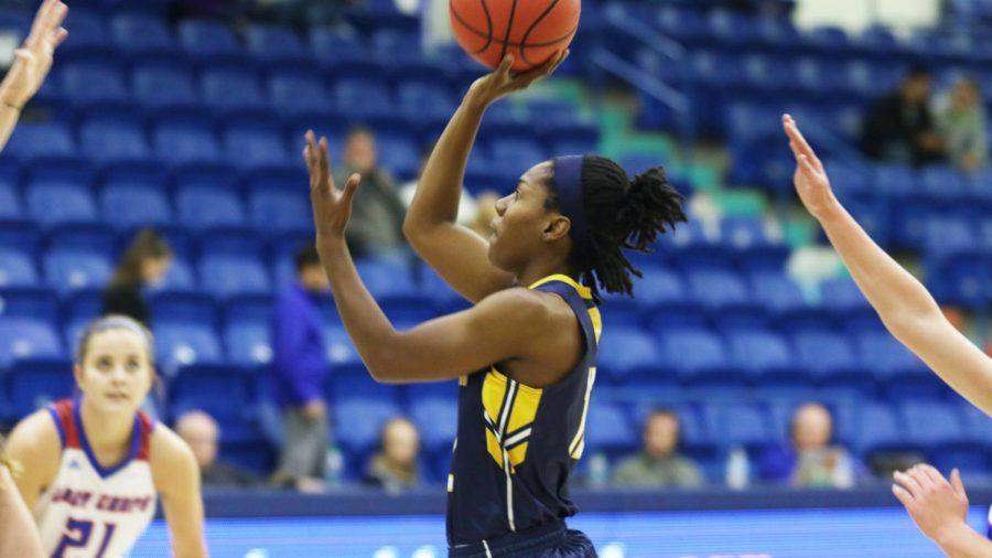 Princess Davis attempts a shot against LCU | Photo by LCU Athletics