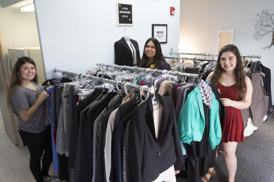 The student assistants working at the Lion Wardrobe.