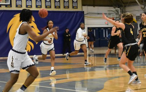 Chania Wright leads the fast break vs. Cameron | Ashley Tuppen
