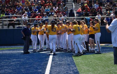 Kinsie Hebler Trots home after a home-run versus Rogers State | Ashley Tuppen