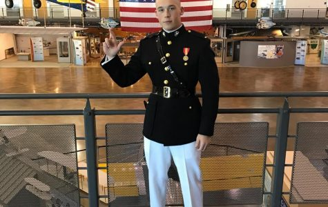 A&M-Commerce's Pinaud walks stage and becomes USMC Officer on same weekend