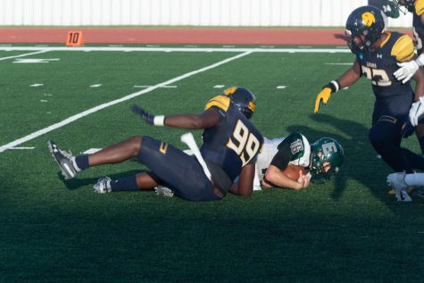Lion football team defeats Eastern New Mexico University 45-27 [Photo Gallery]