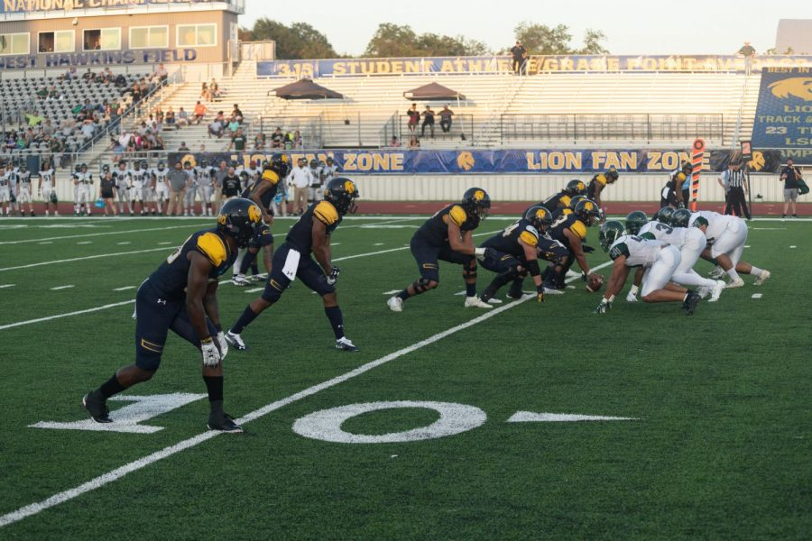 The Lion offense marches down the field in the first half versus Eastern New Mexico | John Parsons