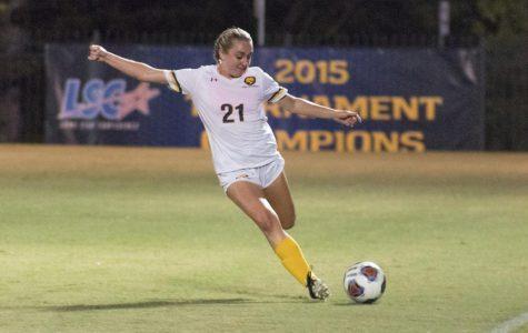 Kara Blasingame boots the ball down the field vs. UT-Tyler | Joseph Miller