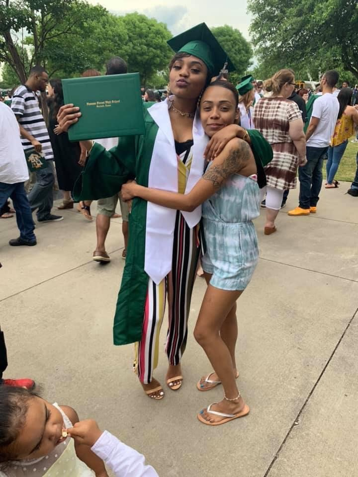 Abby with Deja at her graduation
