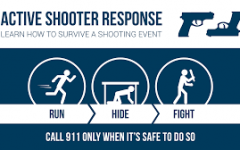 Why should active shooter safety training be requested?