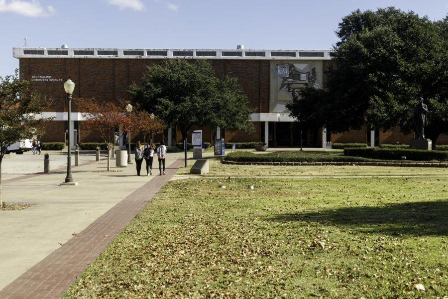 The journalism and computer science building