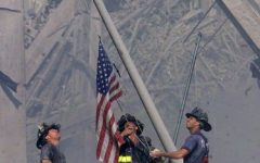 Flag raising at Ground Zero