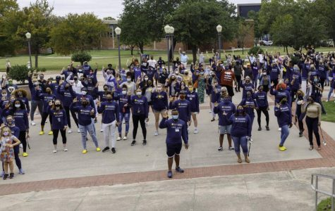 Lions showed their pride in Texas A&M University-Commerce at the conclusion of the Unity March