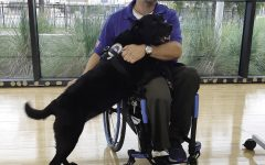 Jason Morgan and his service dog, Rue