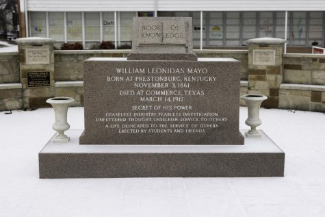 The grave site of Dr. William Mayo, founder of the institution that has become Texas A&M University-Commerce